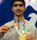 خسروی مدال طلای خود را تقدیم شهید غنیمت پور کرد