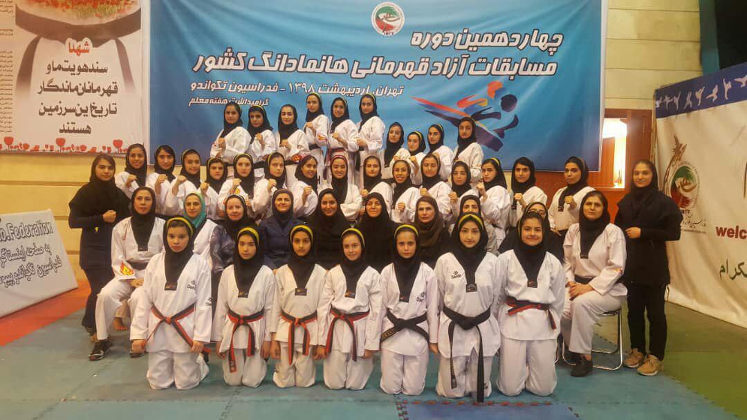 ۳۵مدال رنگارنگ در تصاحب دختران تهران در مسابقات قهرمانی هانمادانگ کشور