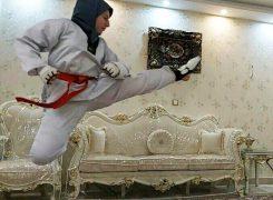 گزارش تصویری۲/پویش عکس ورزشی تکواندوکاران در خانه