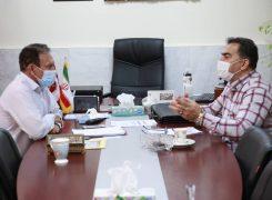 جلسه مشترک دبیر هیات با کارشناس ورزش قهرمانی تهران