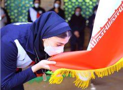 گزارش تصویری /مراسم بدرقه ملی پوشان اعزامی به بازی های المپیک با حضور خانواده شهید زمانی نیا